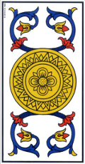 As de denier Tarot de Marseille interprétation
