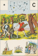 As de trèfle tarot Melle Lenormand interprétation
