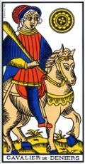 Cavalier de Denier Tarot de Marseille interprétation