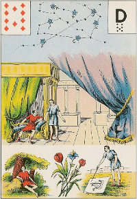 Dix de carreau Melle Lenormand inteprétation