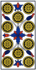 Dix de Denier Tarot de Marseille interprétation