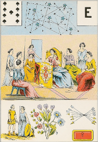 Neuf de pique Melle Lenormand interprétation