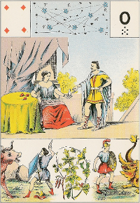 Quatre de carreau Melle Lenormand interprétation