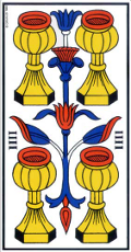 Quatre de Coupe Tarot de Marseille interprétation
