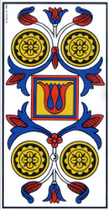 Quatre de Denier Tarot de Marseille interprétation