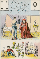 Quatre de pique tarot de Melle LENORMAND interprétation
