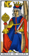 Reine de Coupe Tarot de Marseille interprétation