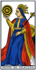 Reine de Denier Tarot de Marseille interprétation