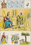 Roi de carreau tarot de Melle LENORMAND interprétation