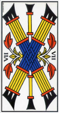 Sept de bâton Tarot de Marseille interprétation