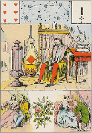 Six de coeur tarot Melle LENORMAND interprétation