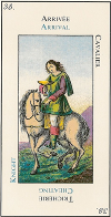 Signification carte 38 le Cavalier Romain Le Grand Etteilla